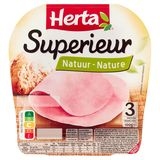 HERTA Jambon Superieur Nature 3 Tranches 100 g