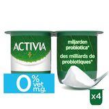 Activia Yoghurt Natuur 0% met Probiotica 4 x 125 g