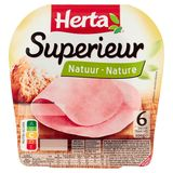 HERTA Jambon Superieur Nature 6 Tranches  200 g