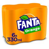 FANTA ORANGE SLEEKCAN 330ML X 6