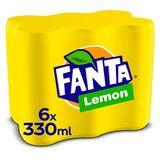 Fanta Lemon sleekcan 330ml x 6
