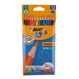 Bic 12 Crayons de Couleurs Ecolutions Evolution Kids