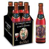 Hoegaarden Bière sur Lie le Fruit Défendu Bouteilles 4 x 33 cl