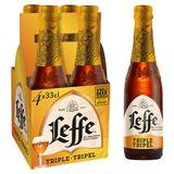 Leffe Triple 8.5° Bière Belge d'Abbaye Bouteilles 4 x 33 cl