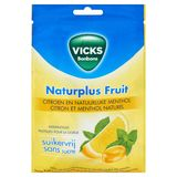 Vicks Bonbons Naturplus Fruit Citron et Menthol Naturel 72 g