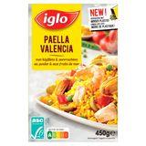 Iglo Paëlla Valencia au Poulet et aux Crevettes 450 g