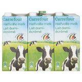 Carrefour Lait Demi-Écrémé 6 x 1 L