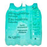 Carrefour Eau Minérale Naturelle Légèrement Pétillante 6 x 1.25 L