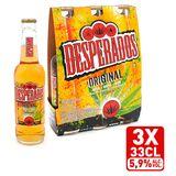 Desperados Bier Tequila 5.9% ALC Fles 3x33cl