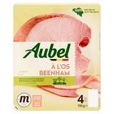 Aubel Jambon à l'Os 4 Tranches 150 g