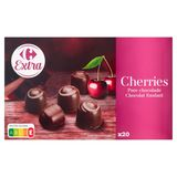 Carrefour Extra Cherries Chocolat Fondant 250 g