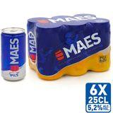 Maes Blond bier Pïls 5.2% ALC Blik 6x25cl