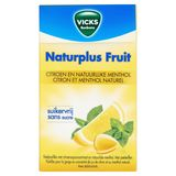 Vicks Bonbons Naturplus Fruit Citron et Menthol Naturel 40 g