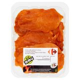 Carrefour BBQ Xtra Fijne Kipfiletlapjes Gekruid Paprika 0.600 kg