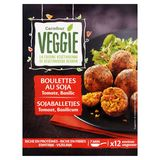 Carrefour Veggie Sojaballetjes Tomaat, Basilicum  x 12 Ongeveer 200 g