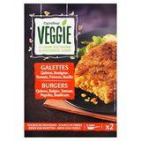 Carrefour Veggie Burgers Quinoa, Bulgur, Tomaat, Paprika, Basilicum 2 x 100 g