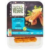 Carrefour Veggie Sticks Zeesmaken met Tarwe 180 g