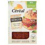 Céréal Bio Plant-Based Burger Soja & Tarwe 2 Stuks 180 g