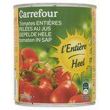 Carrefour Tomates Entières Pelées au Jus 780 g