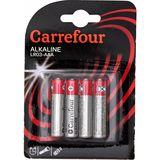 Carrefour 4 Alkaline Batterijen LR03-AAA