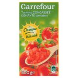 Carrefour Gehakte Tomaten Klassiek 500 g