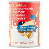 Carrefour Geëvaporeerde Volle Melk 7.5% V.G. 387 ml