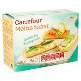 Carrefour Melba Toast Rechthoekig 5 Zakjes 100 g