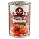 Carrefour Classic' Vleesballetjes in Tomatensaus 400 g