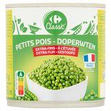 Carrefour Classic' Petits Pois Extra-Fins à l'Étuvée 400 g