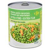 Carrefour Erwten en Wortelen Extra Fijn 800 g