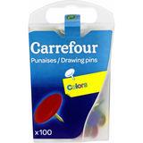 Carrefour 100 gekleurde duimspijkers