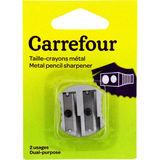 Carrefour Potloodslijper met 2 diktes