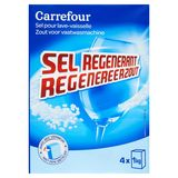 Carrefour Regenereerzout Zout voor Vaatwasmachine 4 x 1 kg