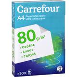 Carrefour Papier voor inkjetprinter 500 vellen A4  80G