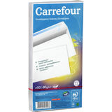 Carrefour 50 enveloppes 110x220 mm