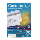 Carrefour 50 enveloppes 114x162 mm