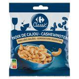Carrefour Noix de Cajou Grillées Salées Classic 125 g