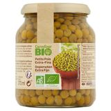 Carrefour Bio Doperwten Extra Fijn 340 g