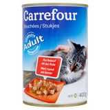 Carrefour Bouchées en Sauce au Bœuf et au Foie 400 g