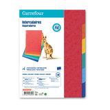 Carrefour 6 Tabbladen A4 - Kleurrijk