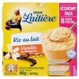 La Laitière Rijstpap Vanillesmaak Economy Pack 8 x 115 g
