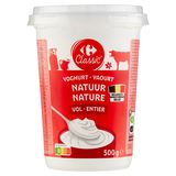 Carrefour Yaourt Nature Entier 500 g