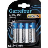 Carrefour 4 Batterijen Alkaline LR6-AA