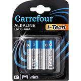 Carrefour 4 Batterijen Alkaline LR03-AAA