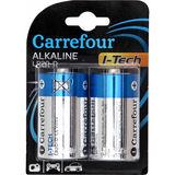 Carrefour 2 I-Tech Alkalinebatterijen LR20-D 1,5V