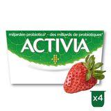 Activia Yoghurt Aardbei met Probiotica 4 x 125 g