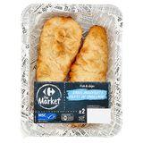Carrefour Filet de Cabillaud Fish-Chips 2 x 110 g