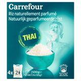 Carrefour Natuurlijk Geparfumeerde Rijst Thai 4 x 125 g
