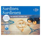 Carrefour Sardienen in Eigen Nat 100 g
