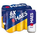 Maes Bière blonde Pïls 5.2% ALC Canette 6x50cl